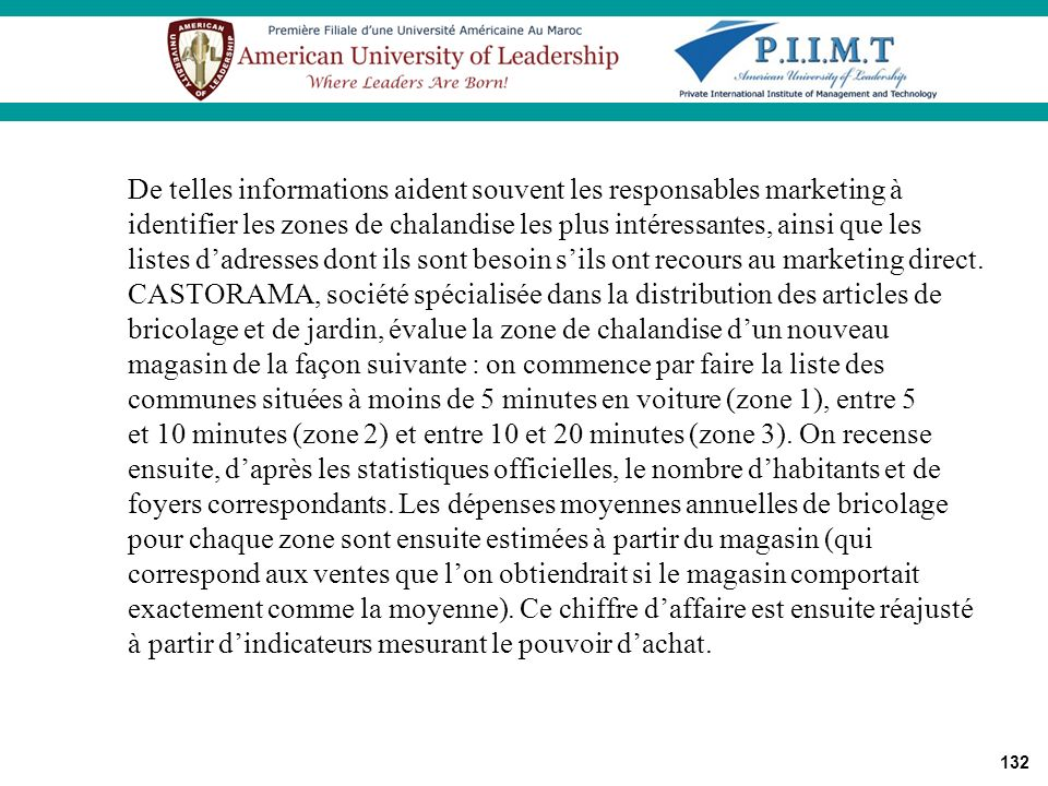 De telles informations aident souvent les responsables marketing à