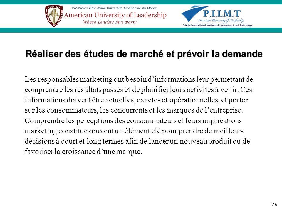 Réaliser des études de marché et prévoir la demande