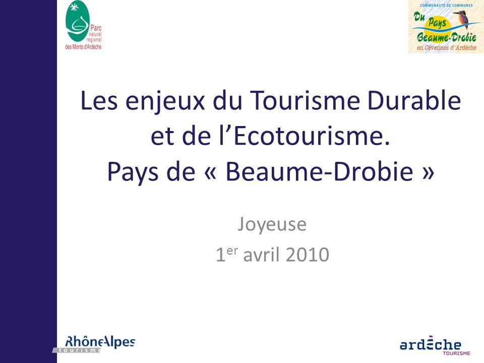 Les enjeux du Tourisme Durable et de l'Ecotourisme