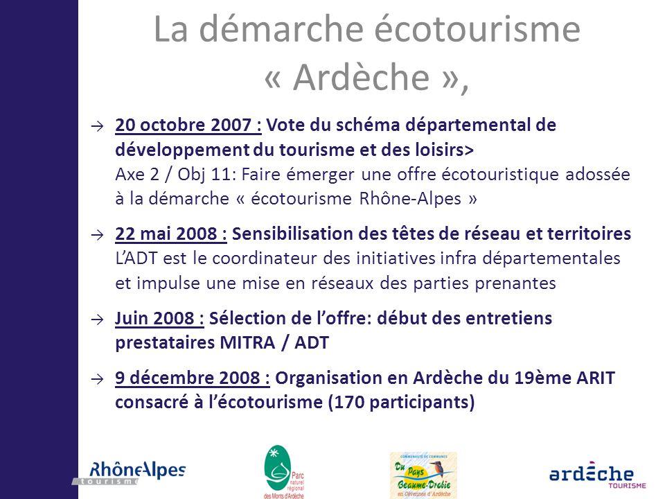 La démarche écotourisme « Ardèche »,