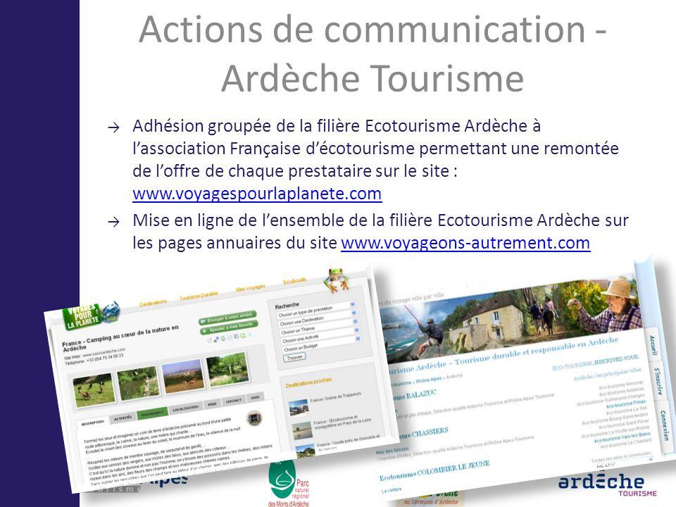 Actions de communication - Ardèche Tourisme