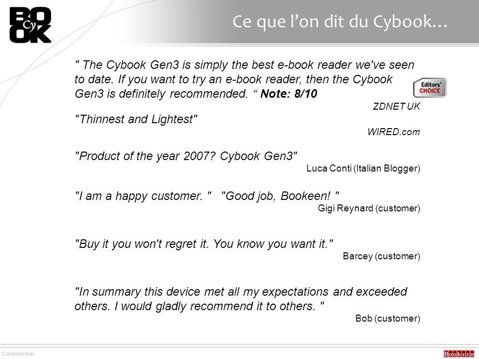 Ce que l'on dit du Cybook…