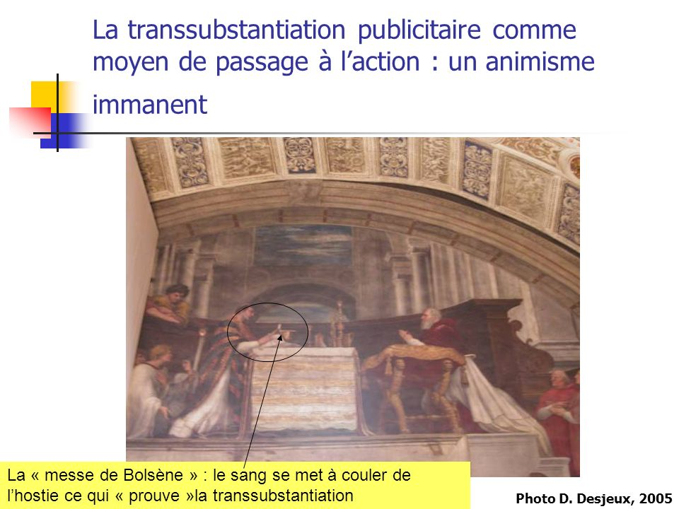 La transsubstantiation publicitaire comme moyen de passage à l'action : un animisme immanent