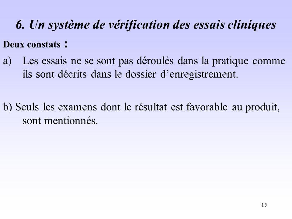 6. Un système de vérification des essais cliniques