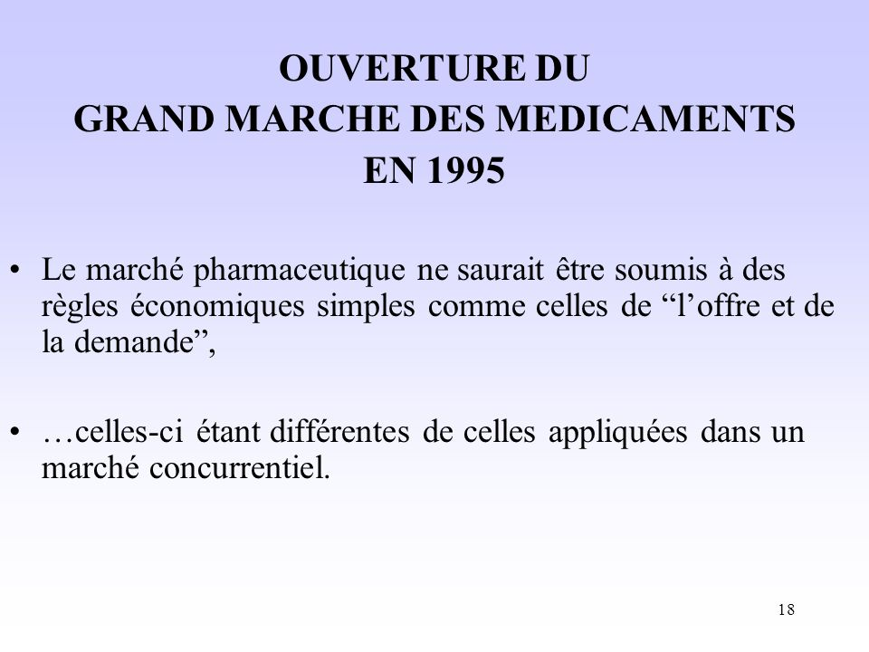 GRAND MARCHE DES MEDICAMENTS