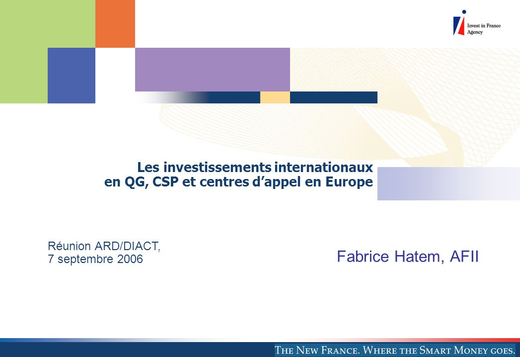 Les investissements internationaux en QG, CSP et centres d'appel en Europe