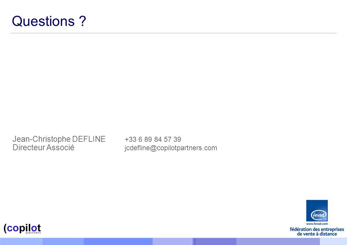 Questions Jean-Christophe DEFLINE +33 6 89 84 57 39