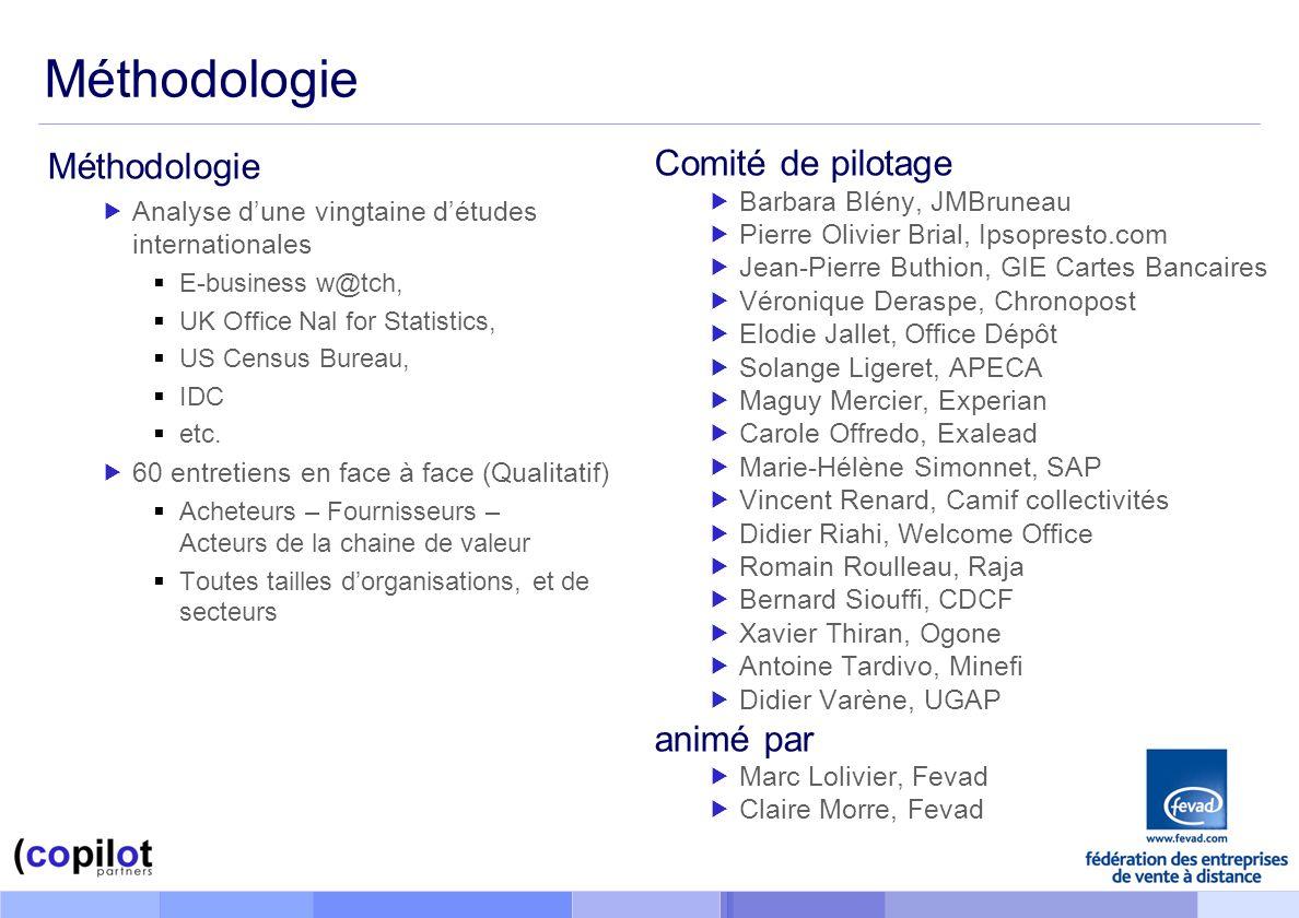 Méthodologie Méthodologie Comité de pilotage animé par