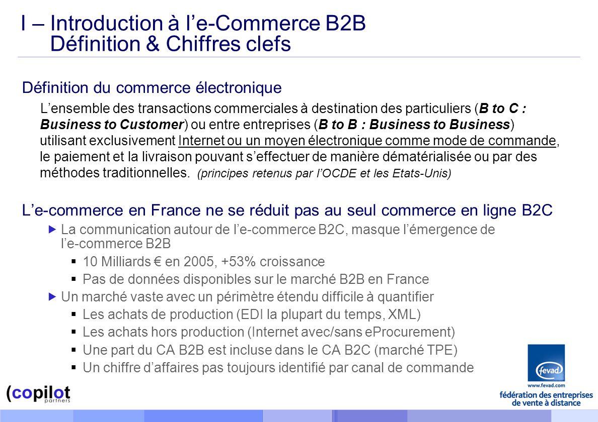 I – Introduction à l'e-Commerce B2B Définition & Chiffres clefs