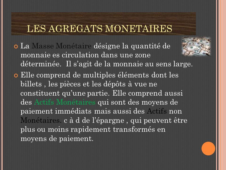 LES AGREGATS MONETAIRES
