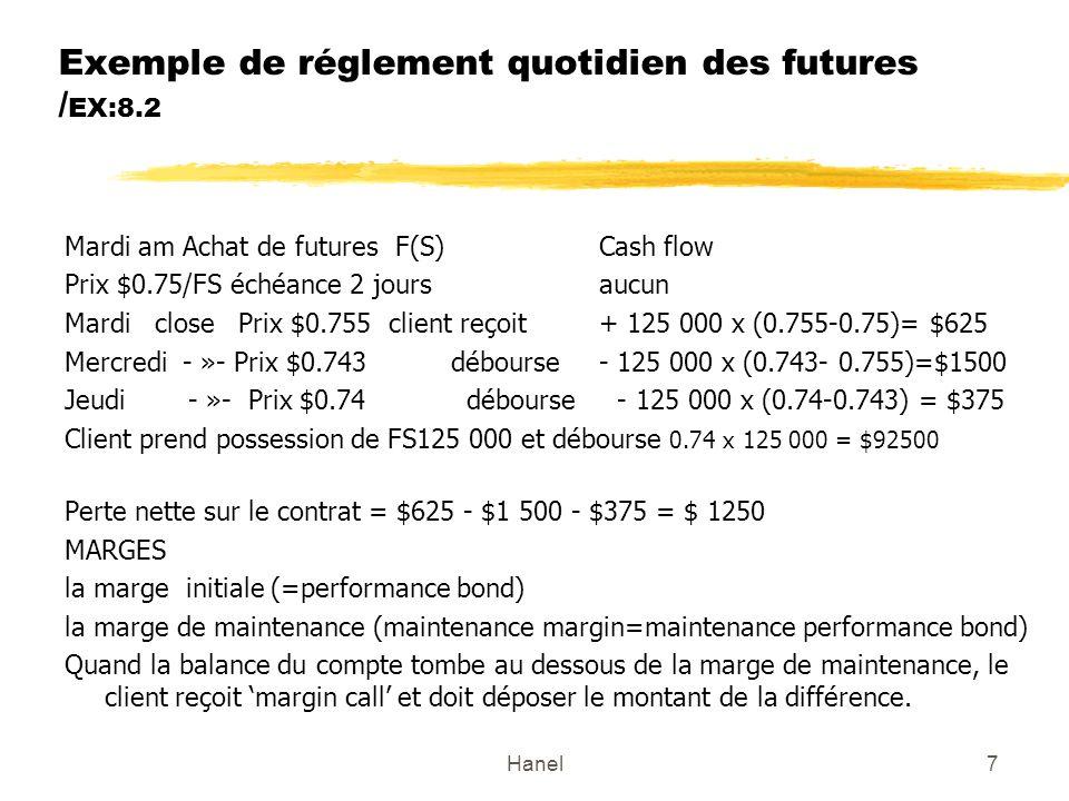 Exemple de réglement quotidien des futures /EX:8.2