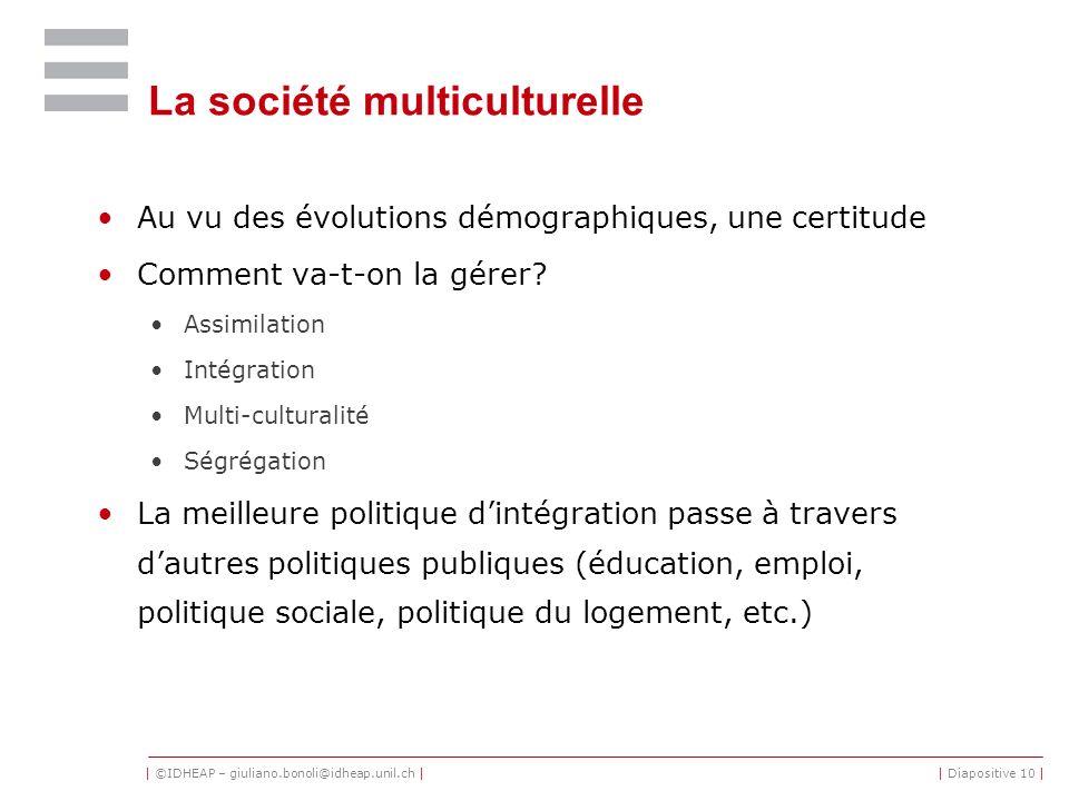 La société multiculturelle