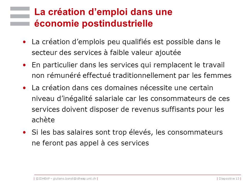La création d'emploi dans une économie postindustrielle