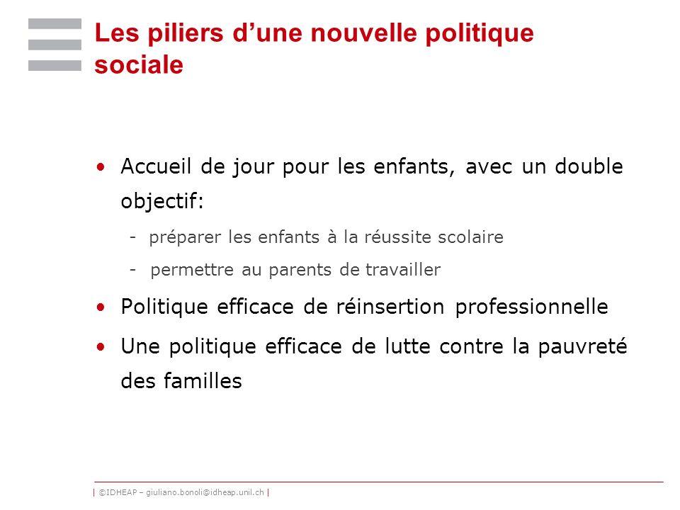 Les piliers d'une nouvelle politique sociale