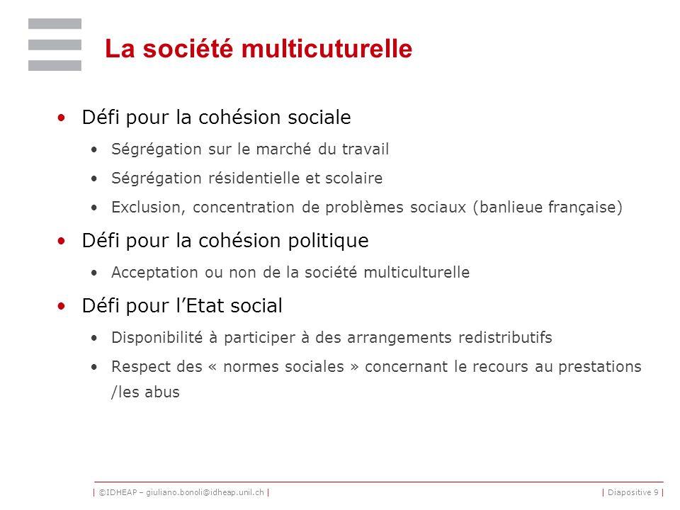 La société multicuturelle