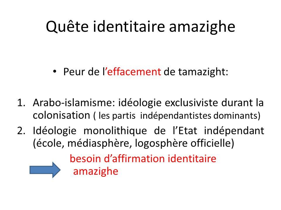 Quête identitaire amazighe