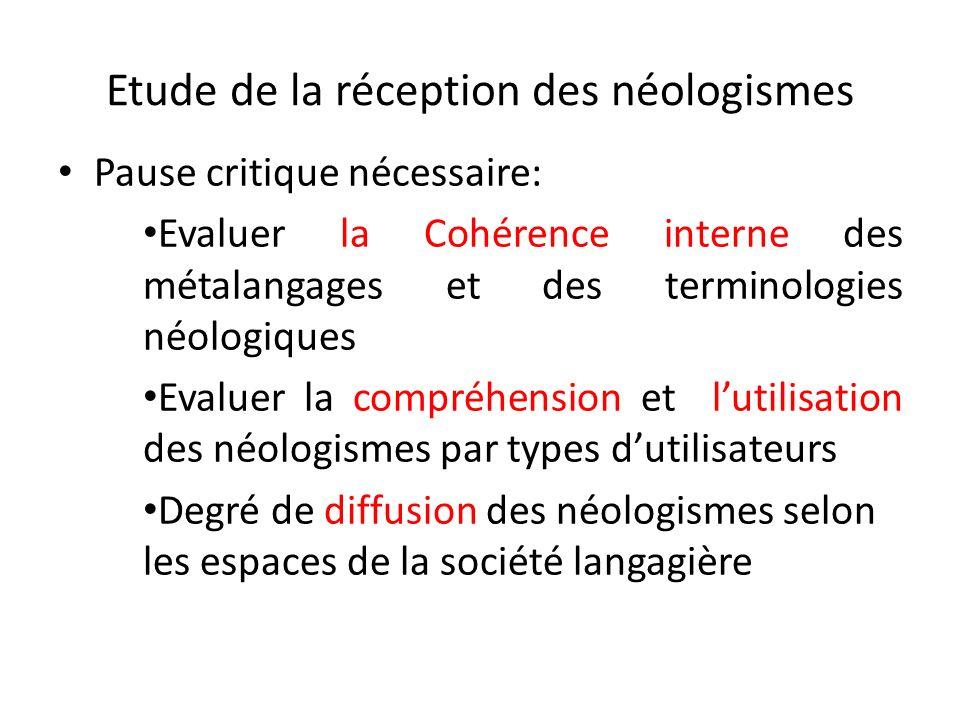 Etude de la réception des néologismes