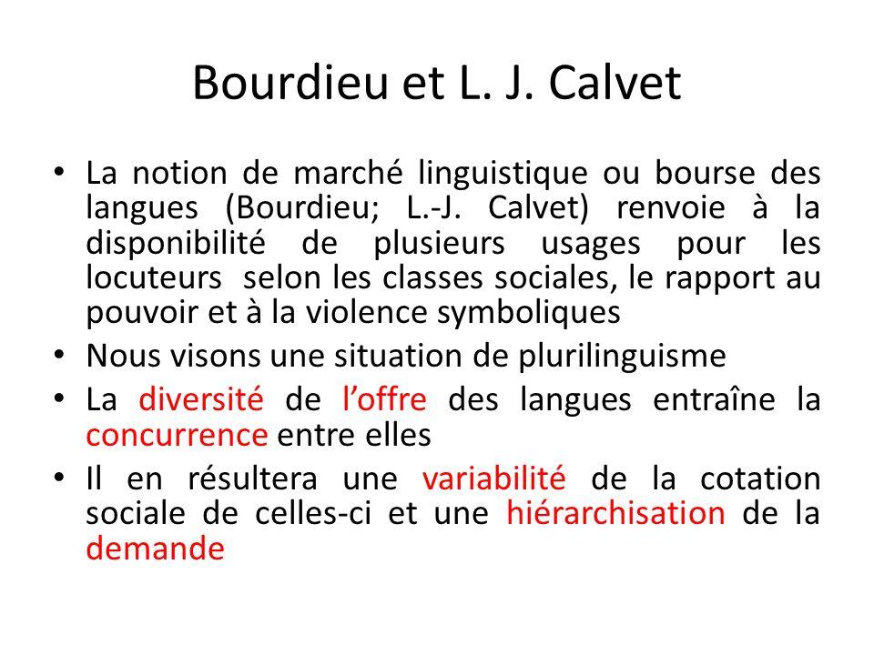 Bourdieu et L. J. Calvet