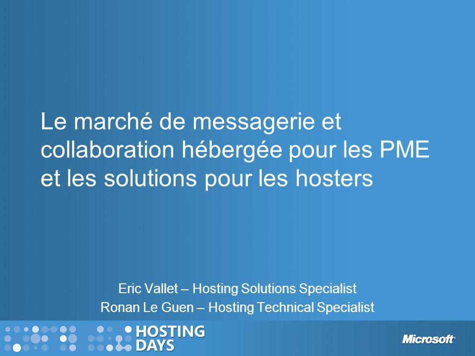 Le marché de messagerie et collaboration hébergée pour les PME et les solutions pour les hosters