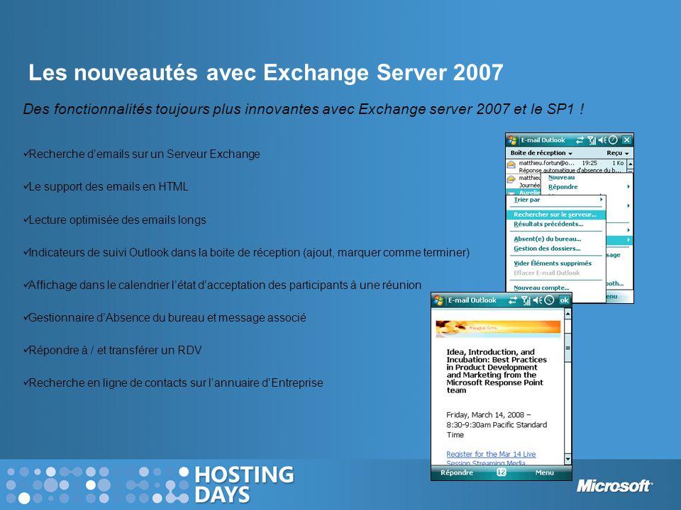 Les nouveautés avec Exchange Server 2007
