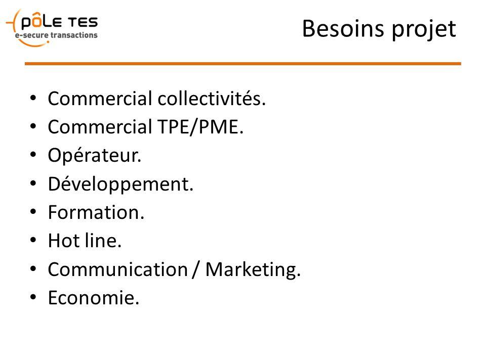 Besoins projet Commercial collectivités. Commercial TPE/PME.