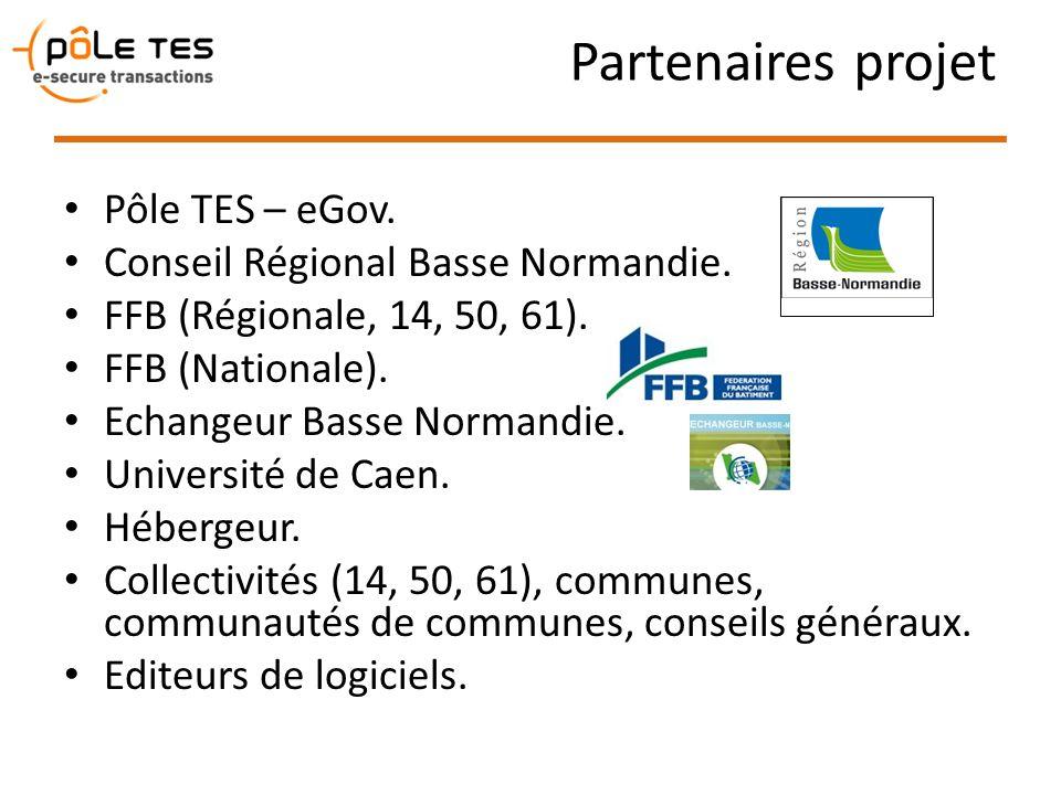 Partenaires projet Pôle TES – eGov. Conseil Régional Basse Normandie.