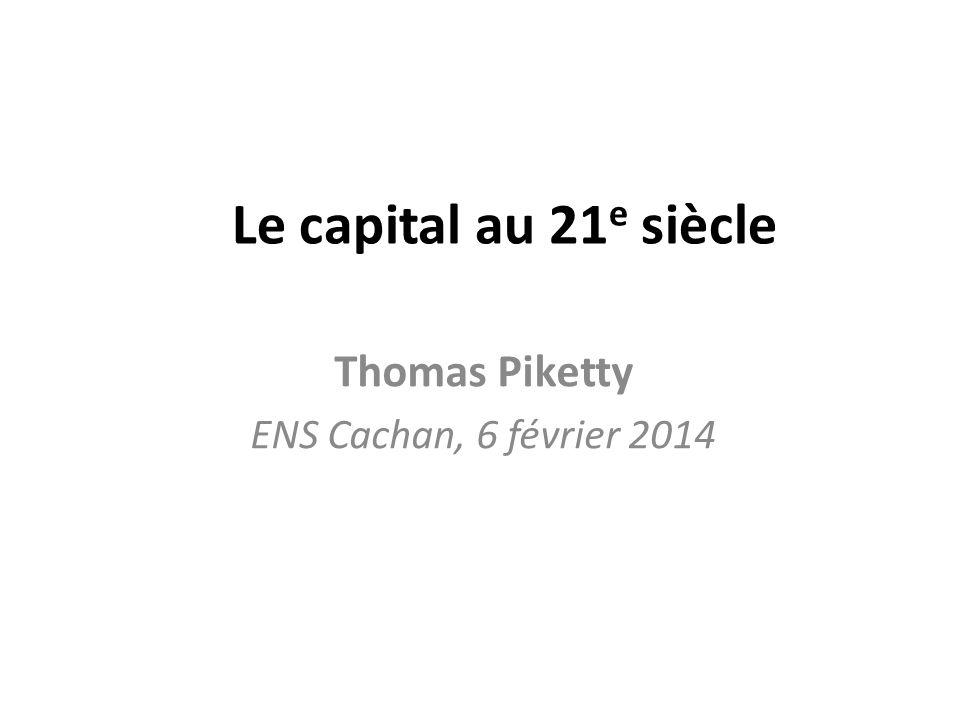 Thomas Piketty ENS Cachan, 6 février 2014