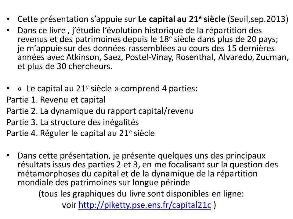 Cette présentation s'appuie sur Le capital au 21e siècle (Seuil,sep