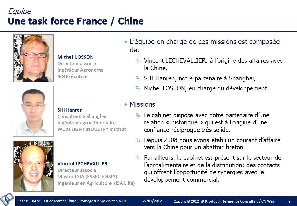 Equipe Une task force France / Chine