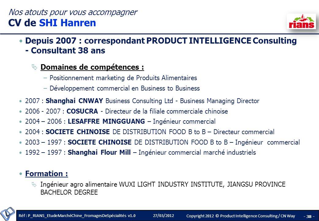 Nos atouts pour vous accompagner CV de SHI Hanren
