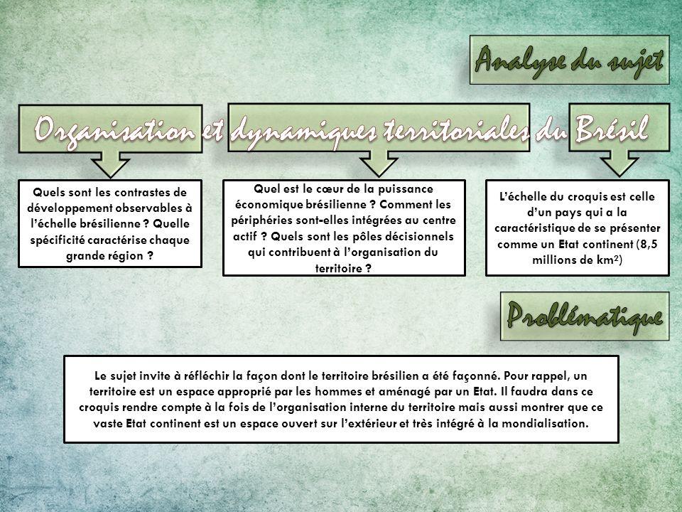 Organisation et dynamiques territoriales du Brésil