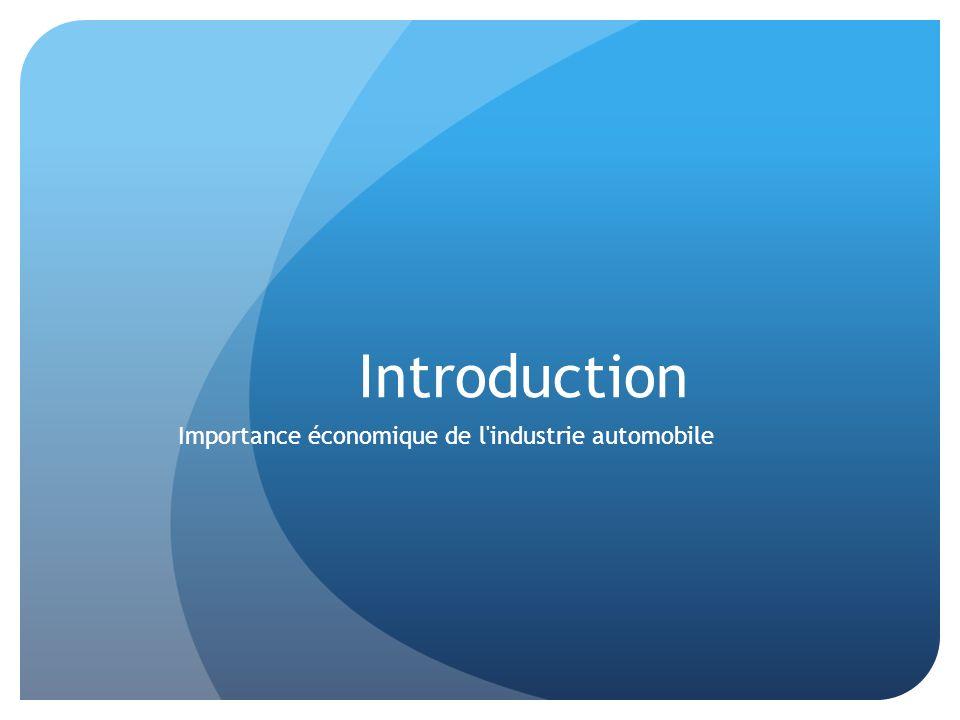 Importance économique de l industrie automobile