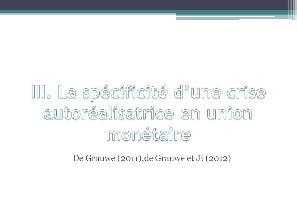 III. La spécificité d'une crise autoréalisatrice en union monétaire