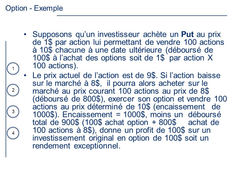 Option - Exemple
