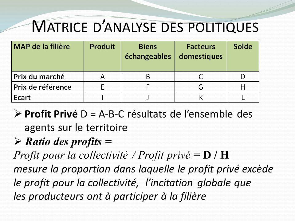 Matrice d'analyse des politiques