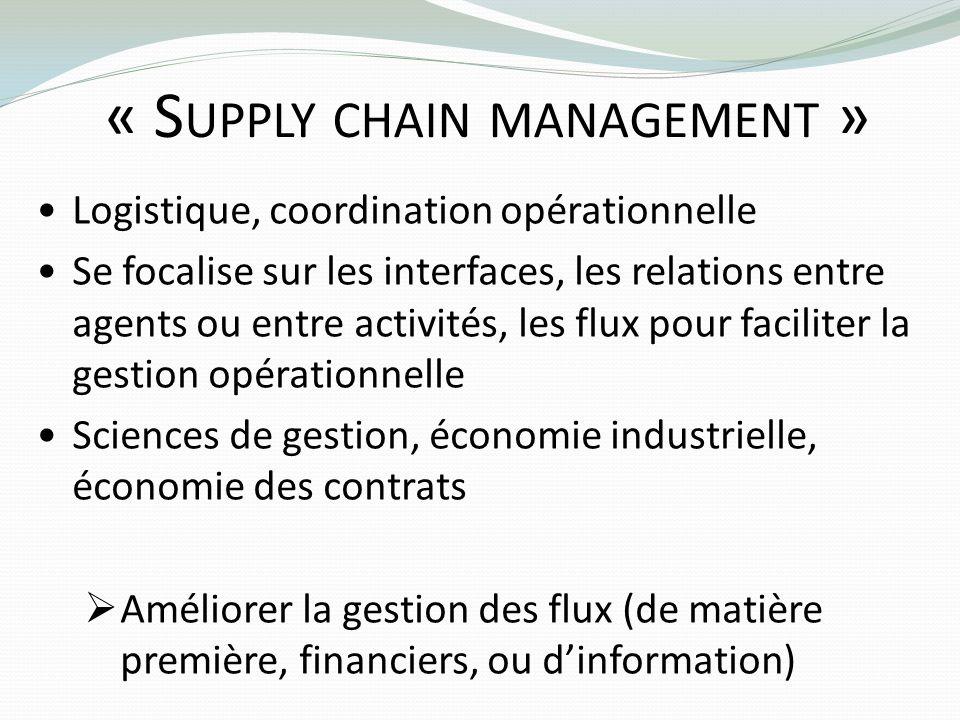« Supply chain management »