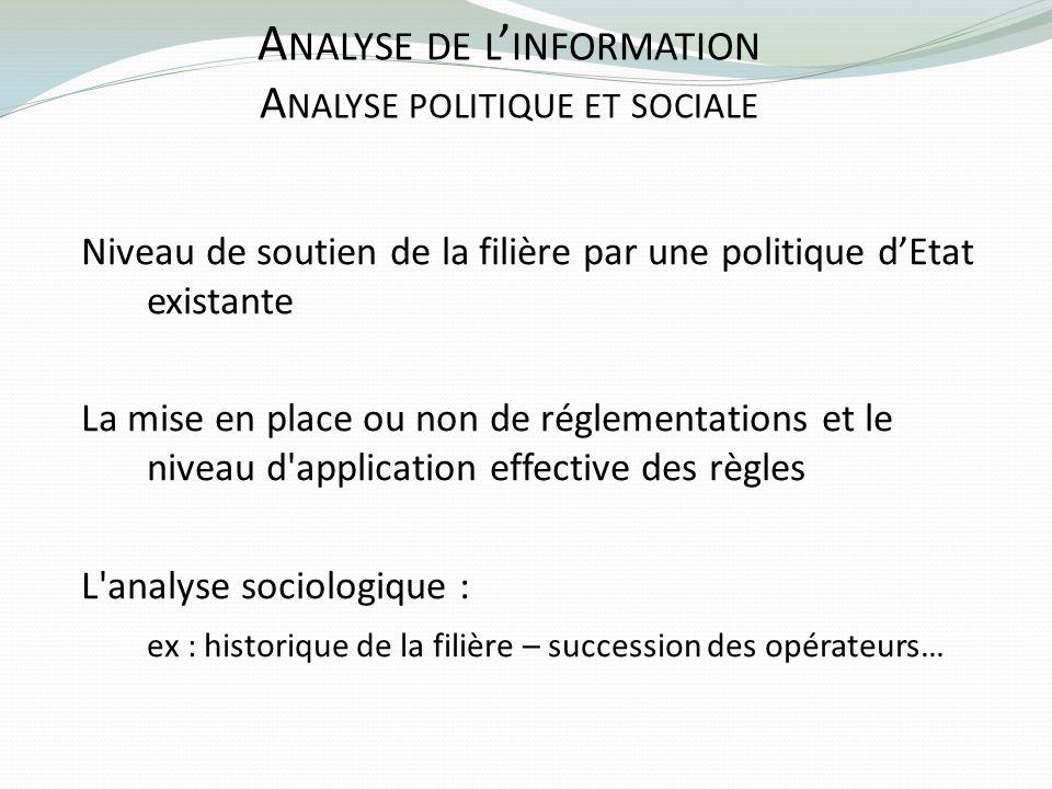 Analyse de l'information Analyse politique et sociale