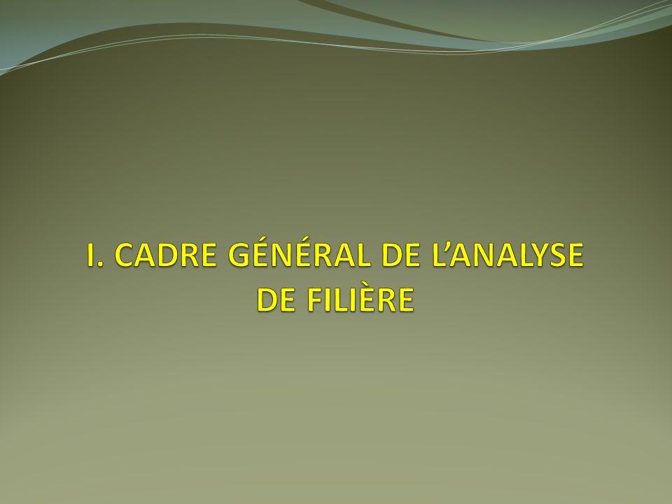 I. Cadre général de l'analyse de filière
