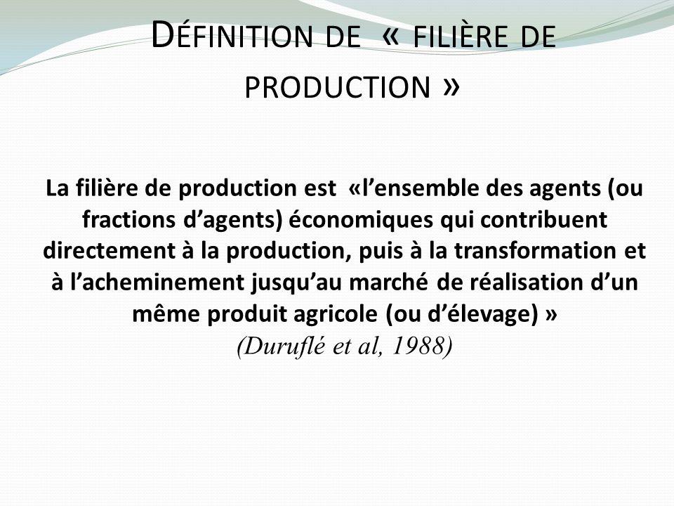 Définition de « filière de production »