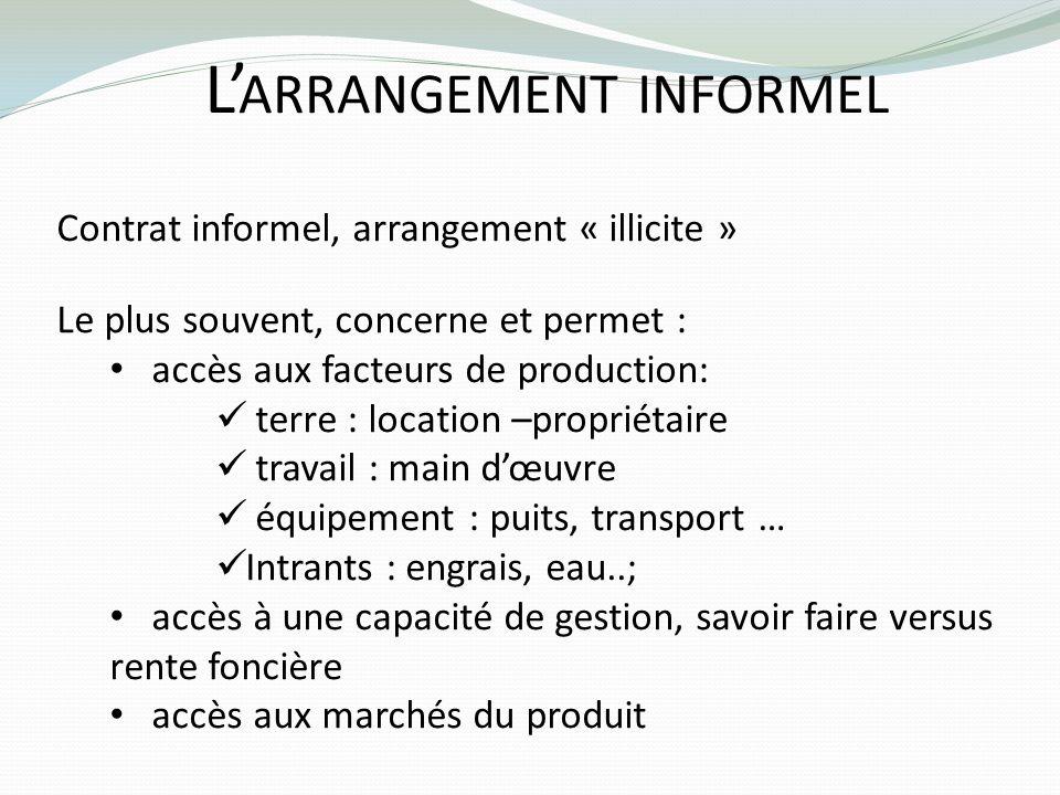 L'arrangement informel