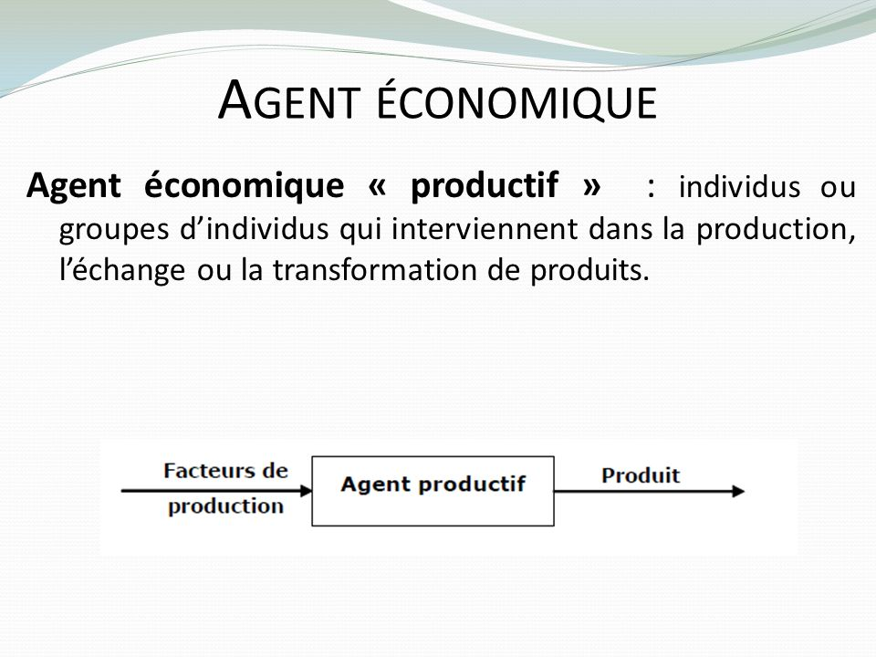 Agent économique