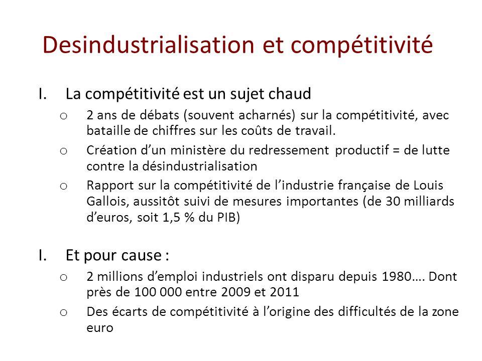Desindustrialisation et compétitivité