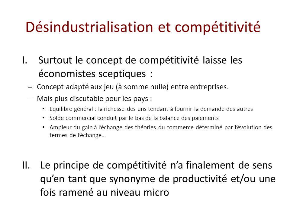 Désindustrialisation et compétitivité