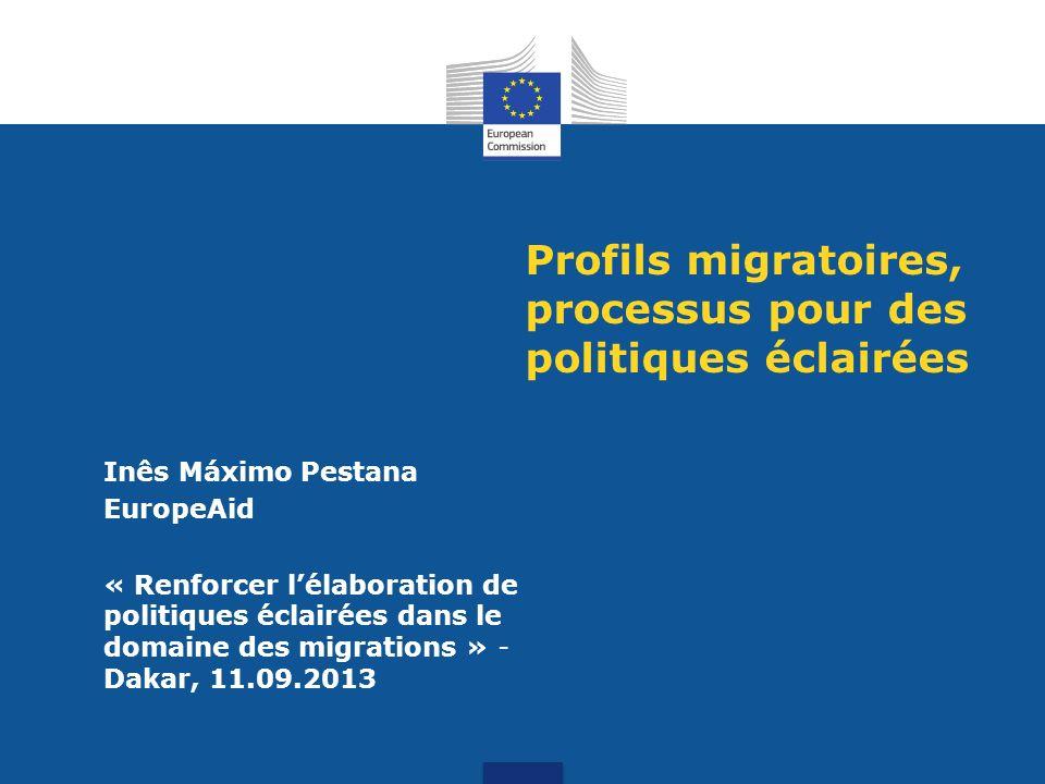 Profils migratoires, processus pour des politiques éclairées
