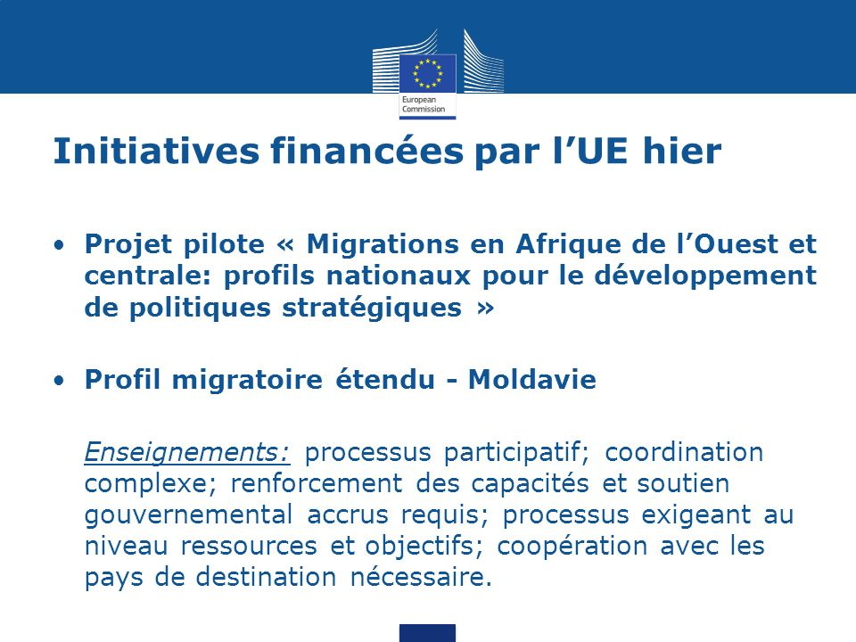 Initiatives financées par l'UE hier