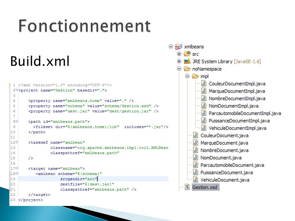 Fonctionnement Build.xml