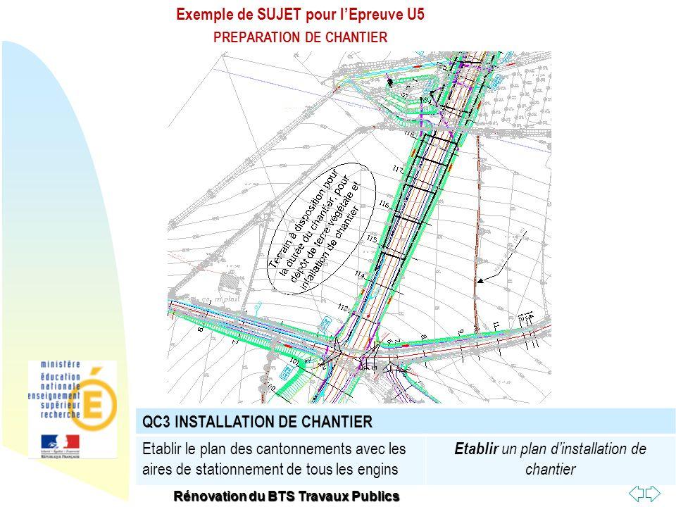 Exemple de SUJET pour l'Epreuve U5