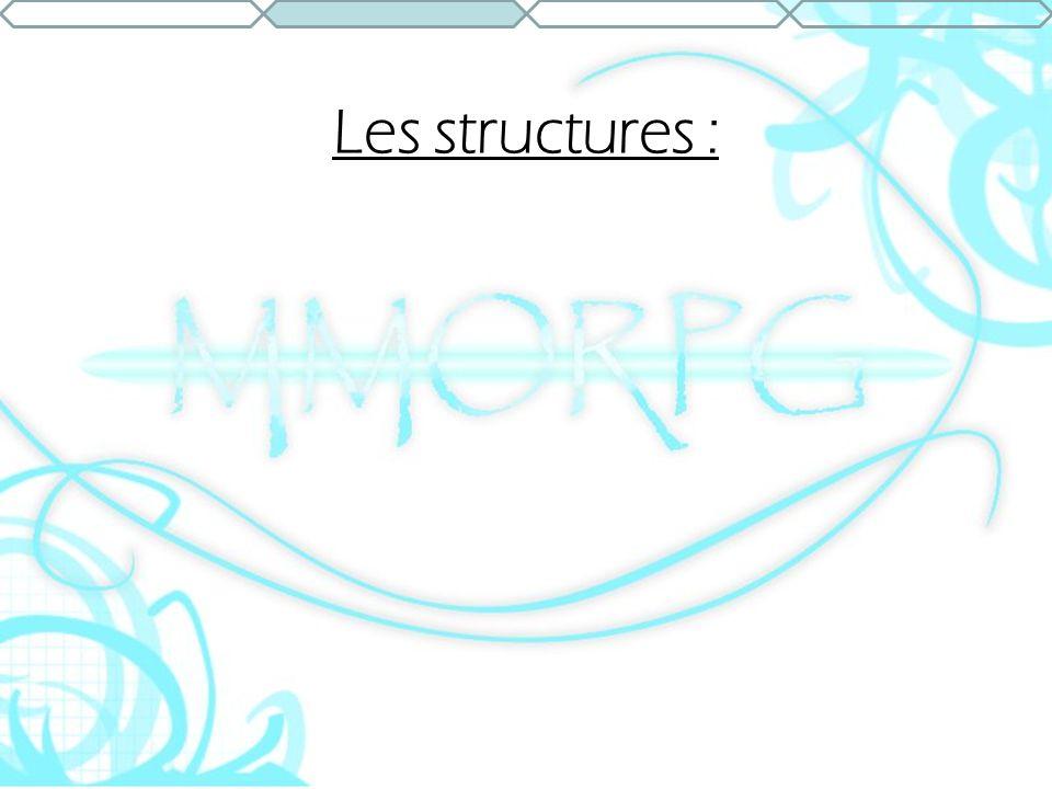 Les structures :