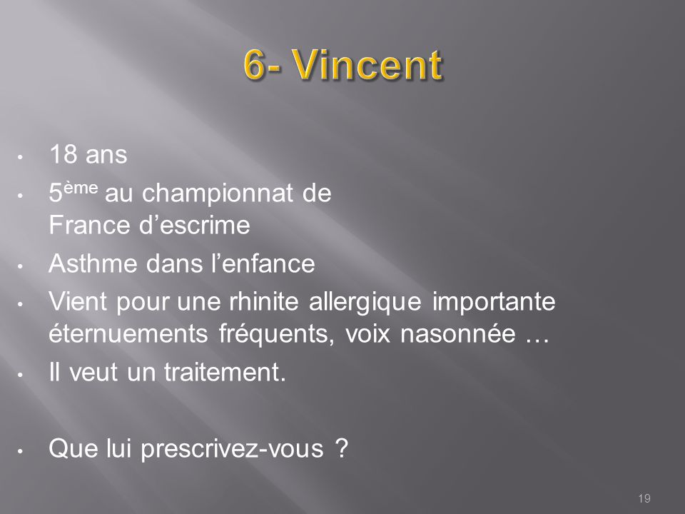 6- Vincent 18 ans 5ème au championnat de France d'escrime