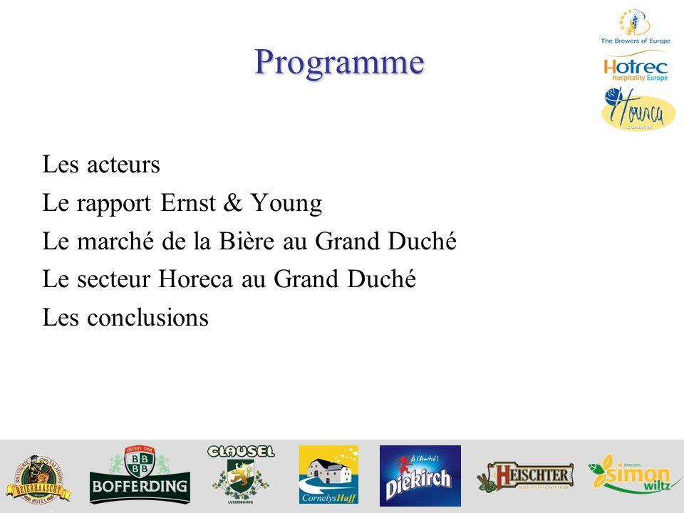 Programme Les acteurs Le rapport Ernst & Young